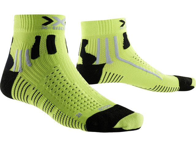 X-Bionic Effektor Running Chaussettes course à pied Homme, green lime/black